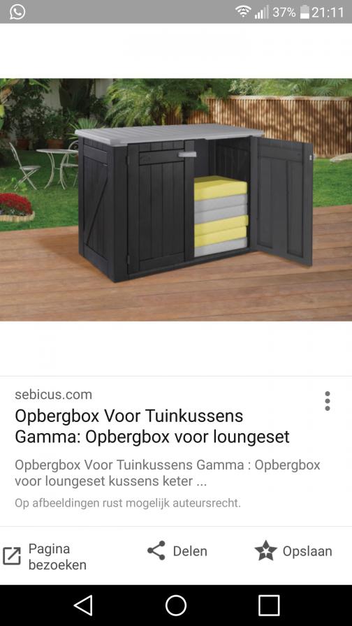Opbergkast Tuinkussens Loungeset.Lounche Kussens Opbergen